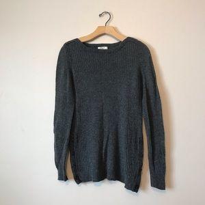 Madewell 100% merino Wool grey sweater